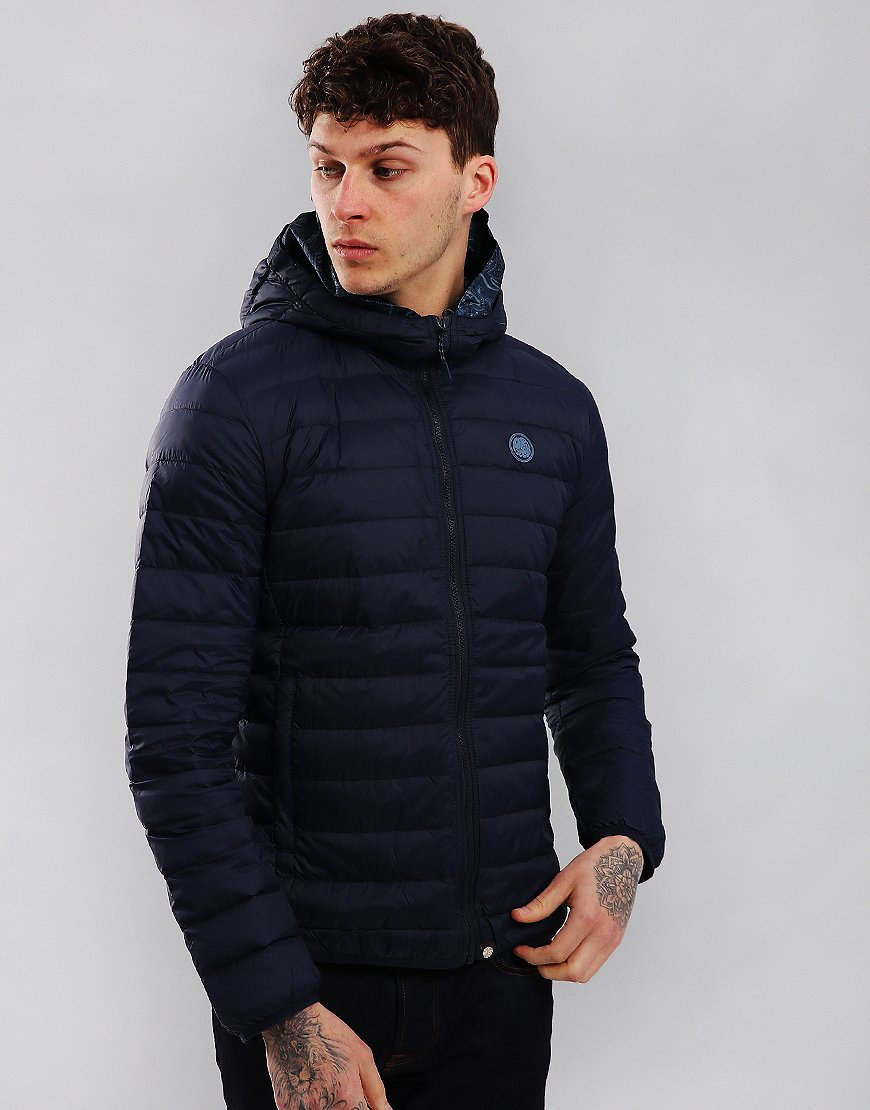 Pretty Green Barker Lightweight Down Jacket Navy