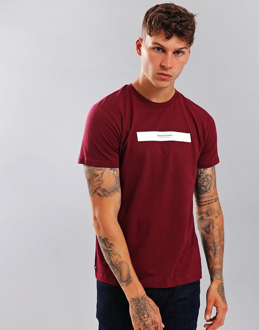 Weekend Offender Box Capsule T-Shirt Garnet