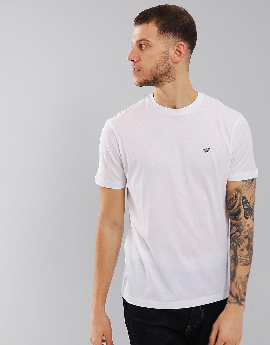 Emporio Armani Plain Pima Cotton T-Shirt White