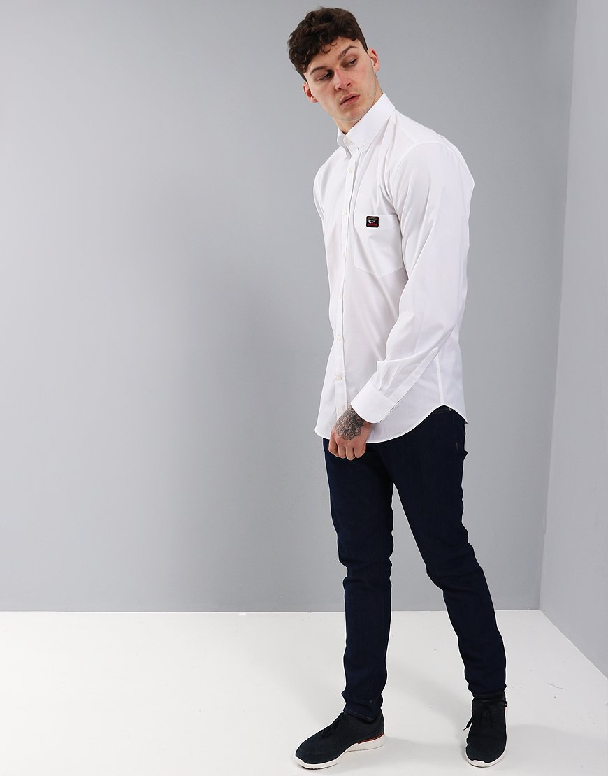 Paul & Shark Regular Fit Woven Shirt White