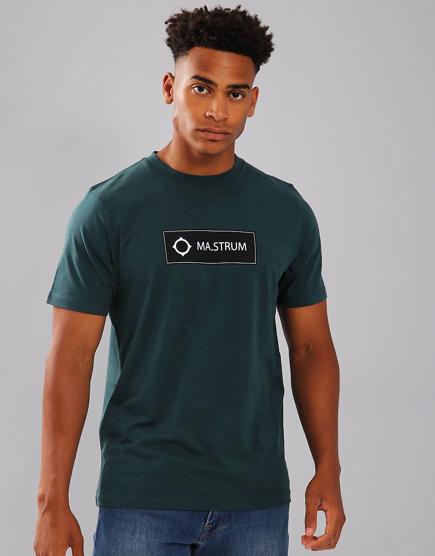 MA.Strum Icon Box Print Logo T-Shirt Petrol