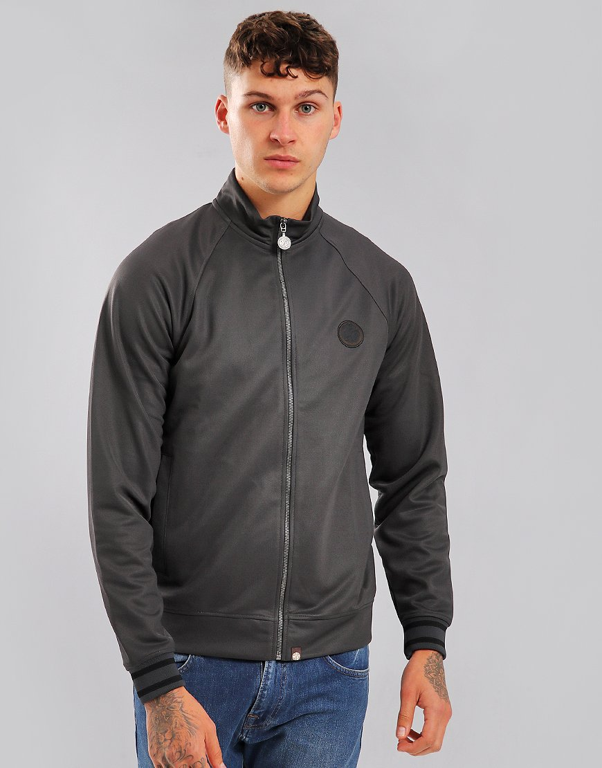 Pretty Green Milner Zip Through Track Top Grey