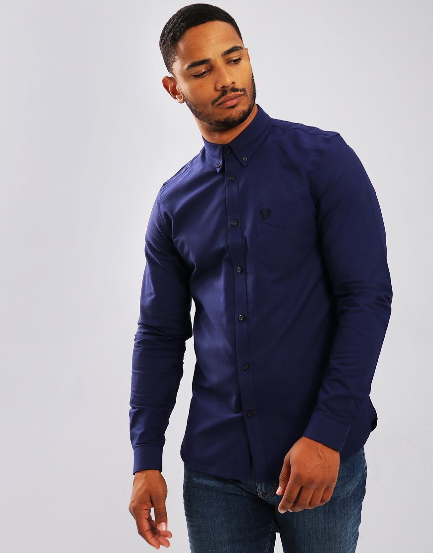 Fred Perry Classic Oxford Shirt Victoria Blue