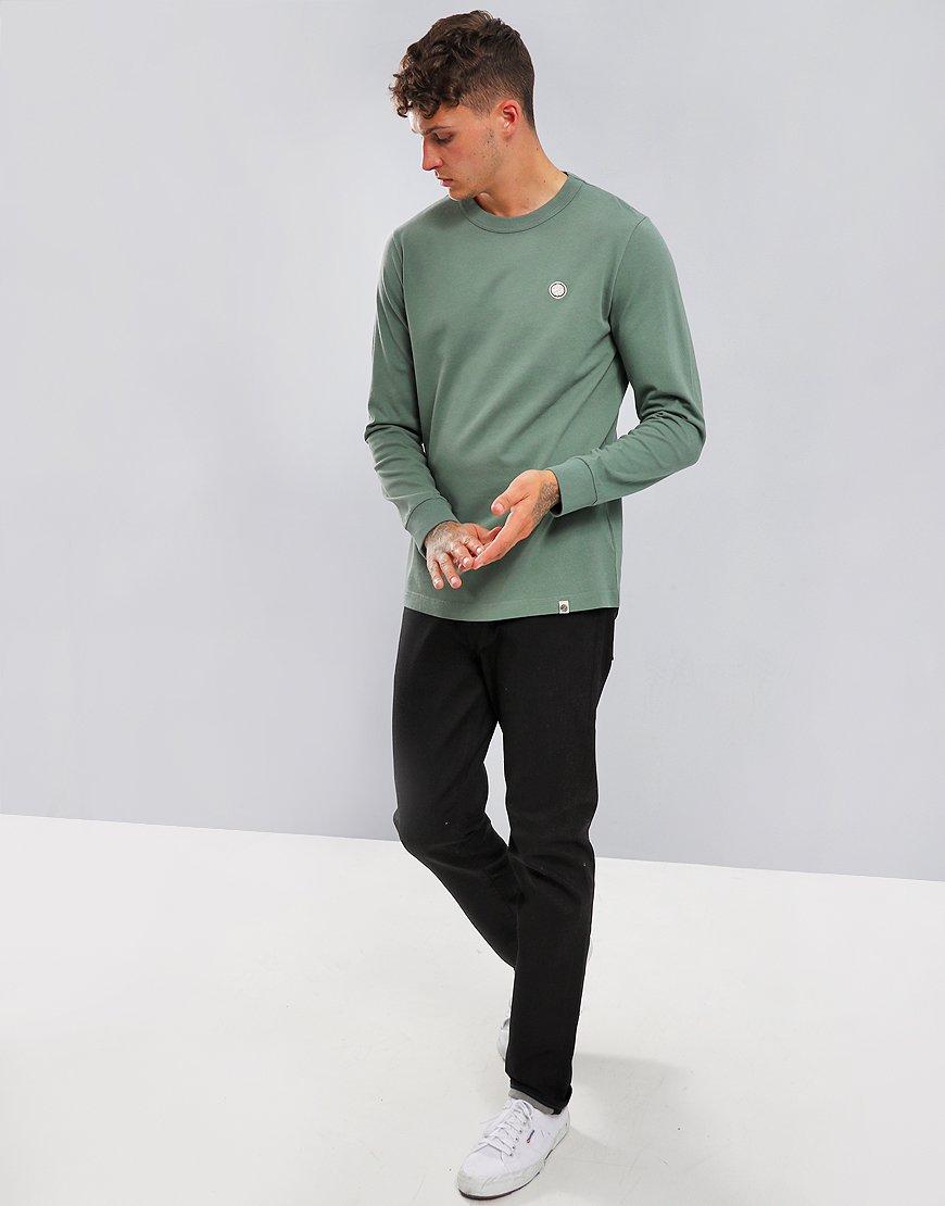 Pretty Green Marsden Long Sleeve T-Shirt Green