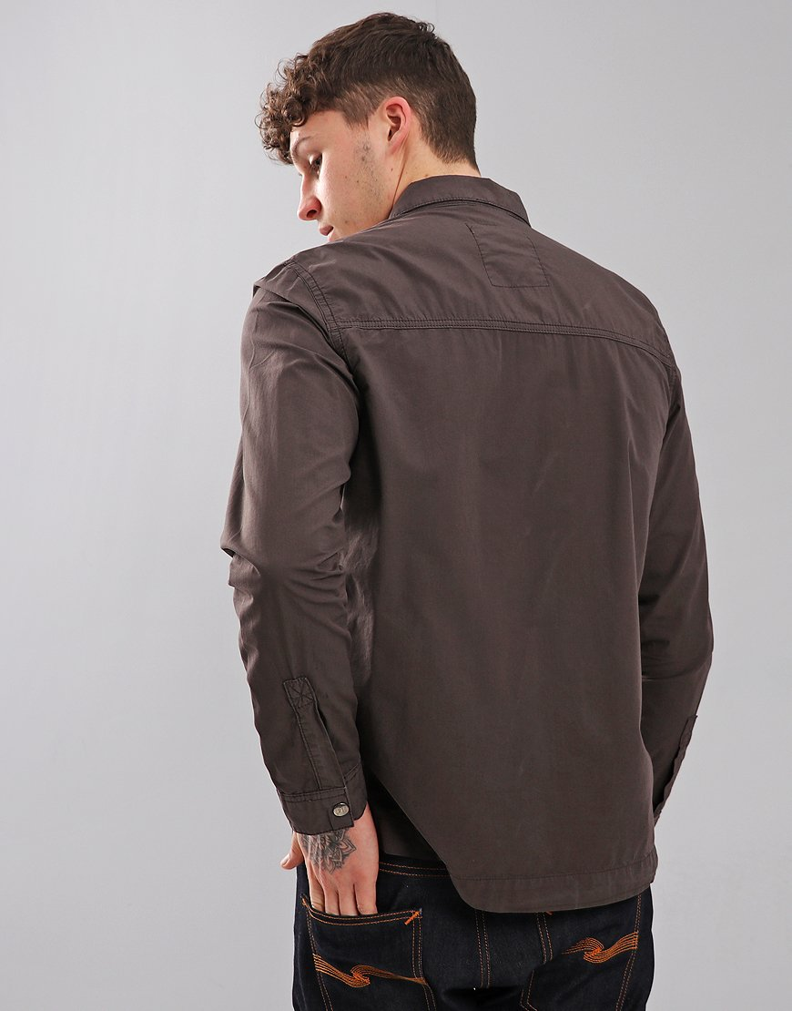 Peaceful Hooligan Ferry Overshirt Steel Grey