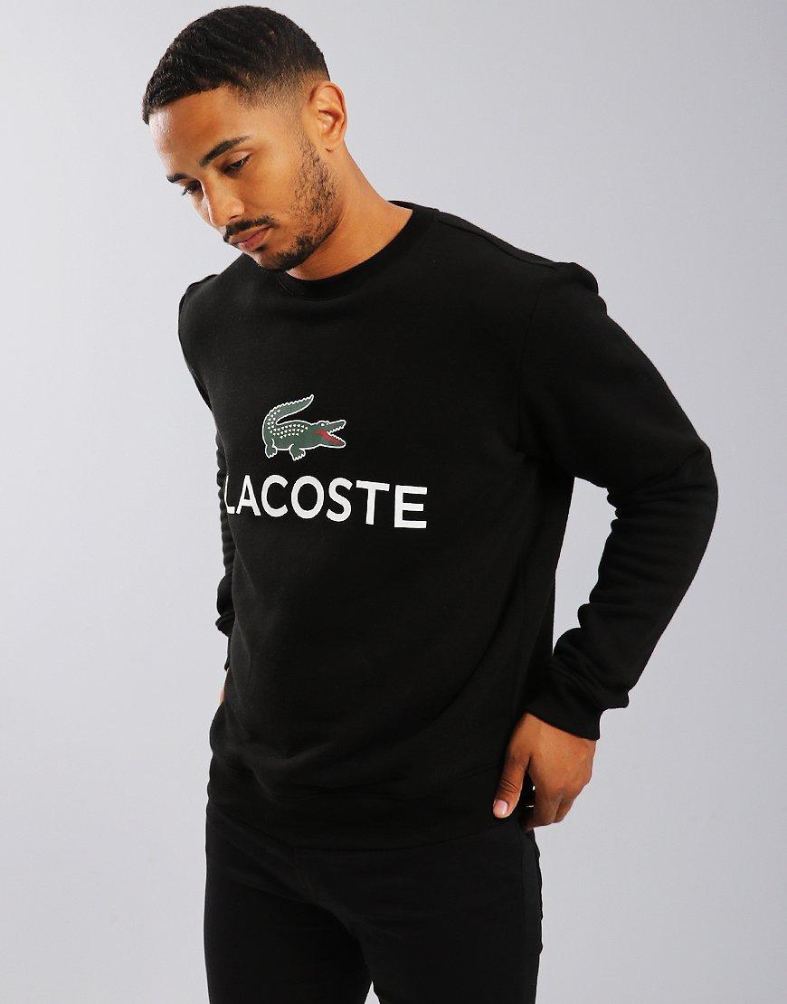 Lacoste Large Logo Sweat Black