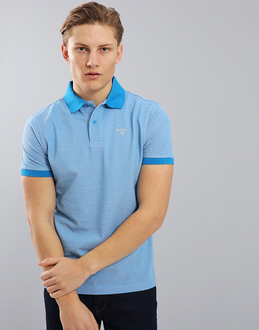Barbour Sports Mix Polo Shirt French Blue