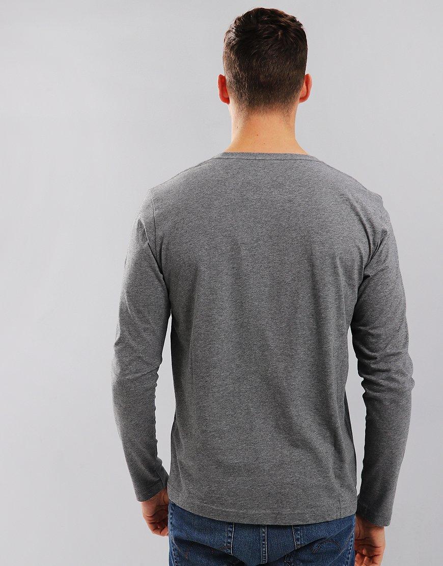 Gant Long Sleeve Solid T-Shirt Dark Grey Melange
