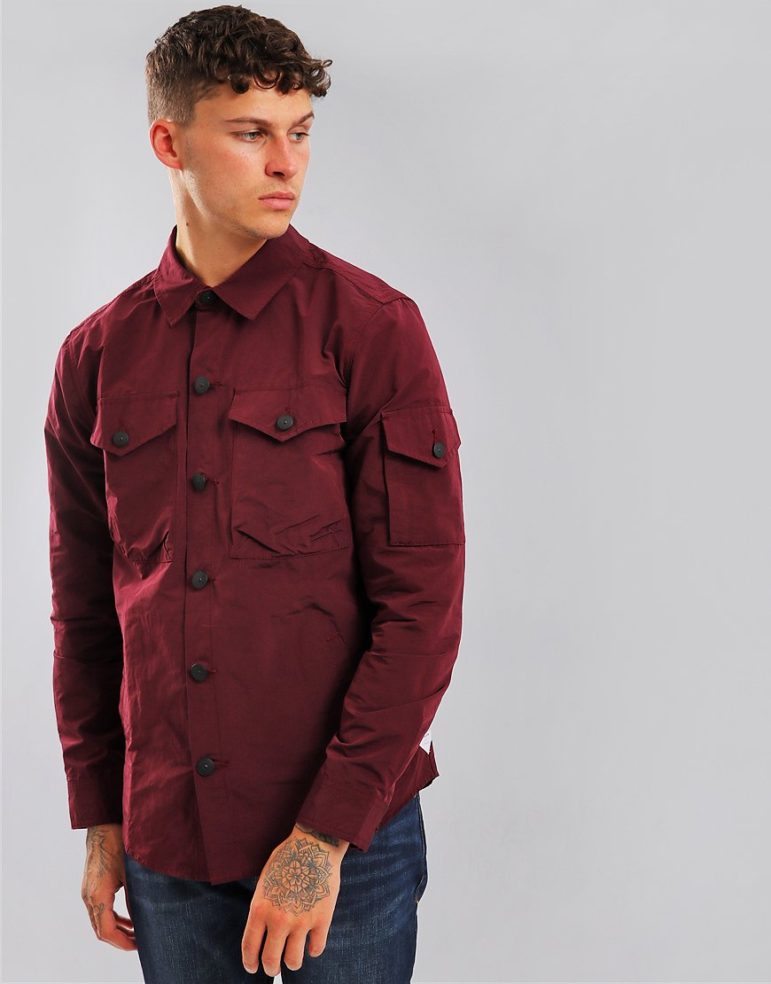 Barbour Beacon Askern Overshirt Merlot