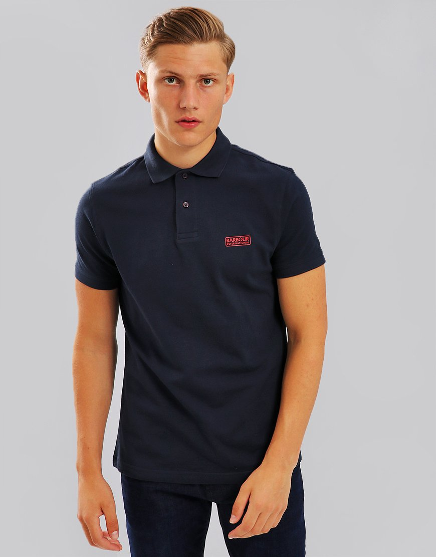 Barbour International Essential Polo Shirt Navy