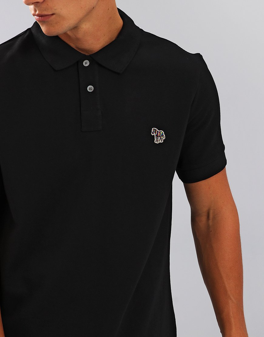 Paul Smith Zebra Logo Polo Shirt  Black