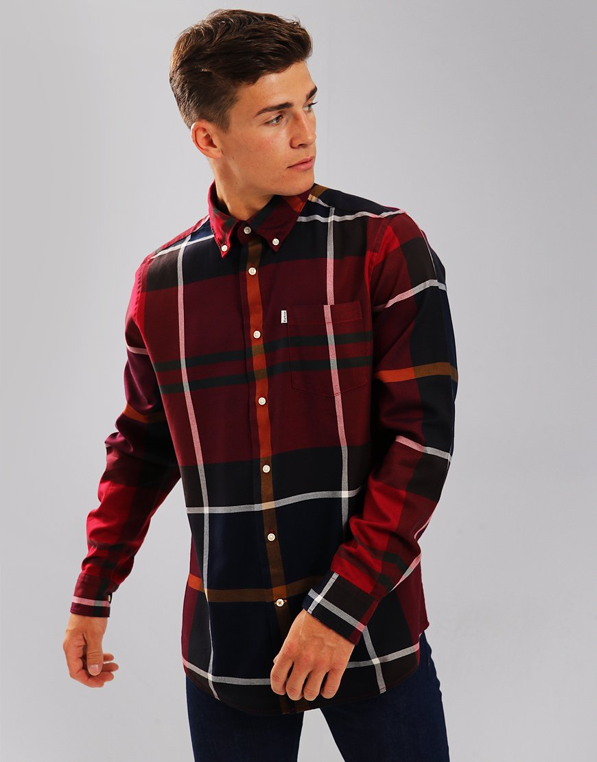 Barbour Dunoon Shirt Red
