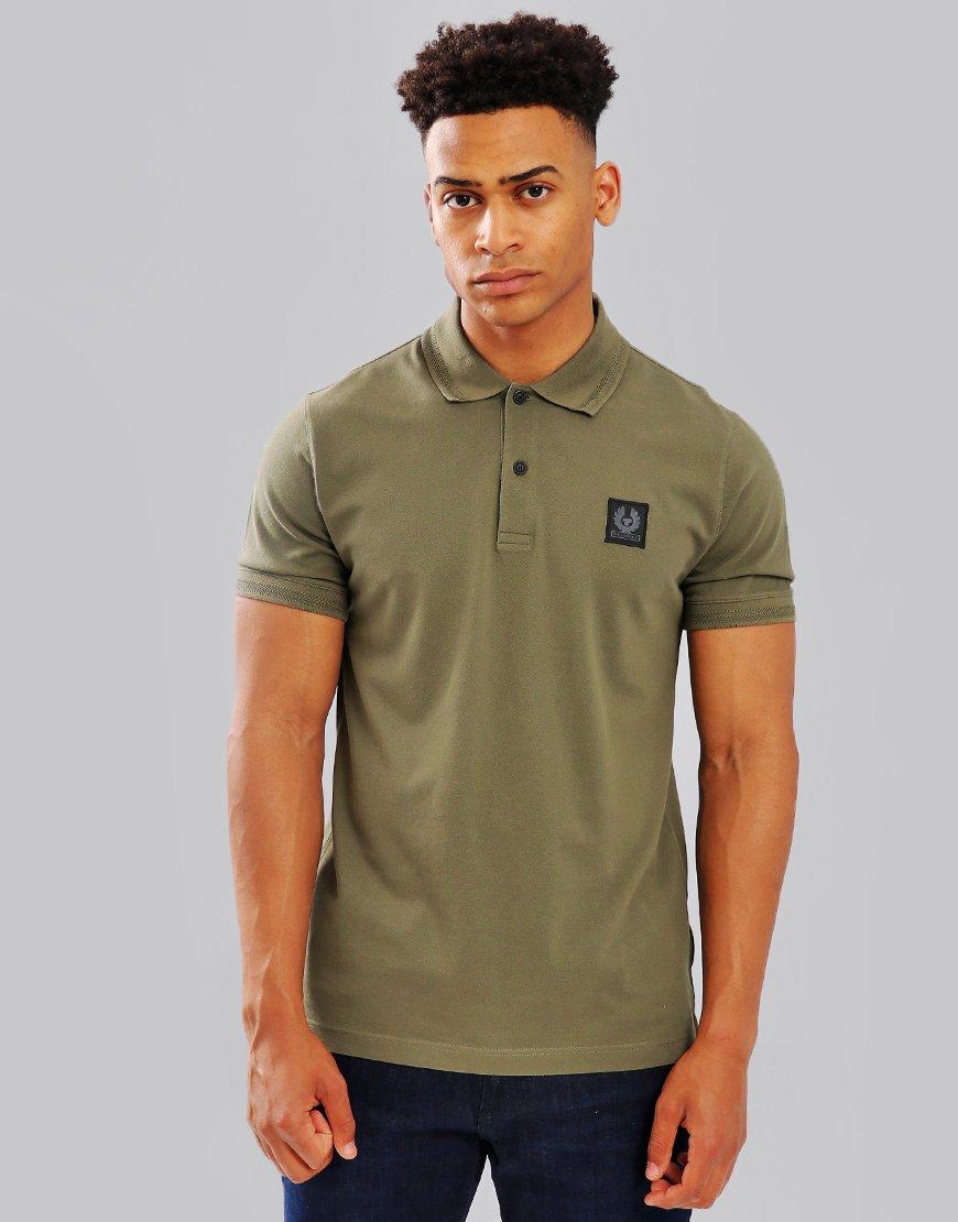 Belstaff Stannett Polo Shirt Humid Green