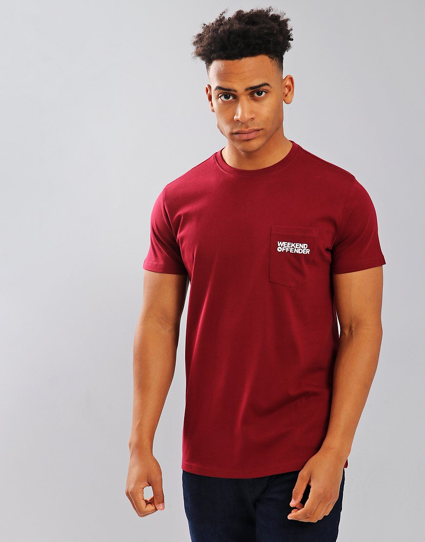 Weekend Offender Squier T-Shirt Garnet