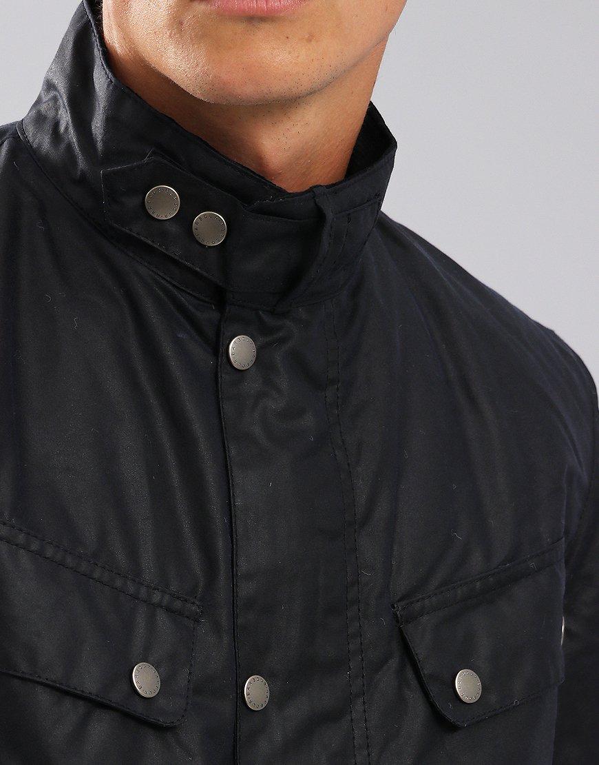 Barbour International Duke Wax Jacket Navy