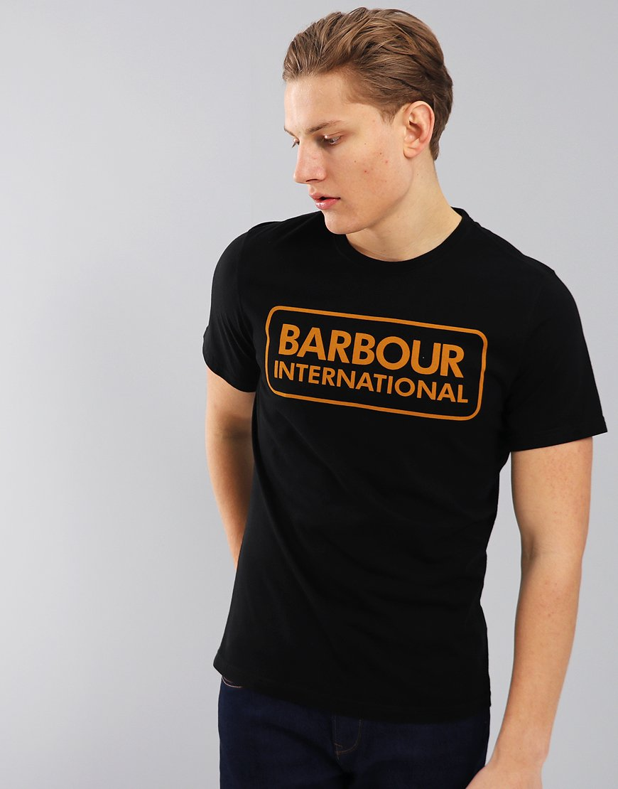 Barbour International Essential Large Logo T-Shirt Black