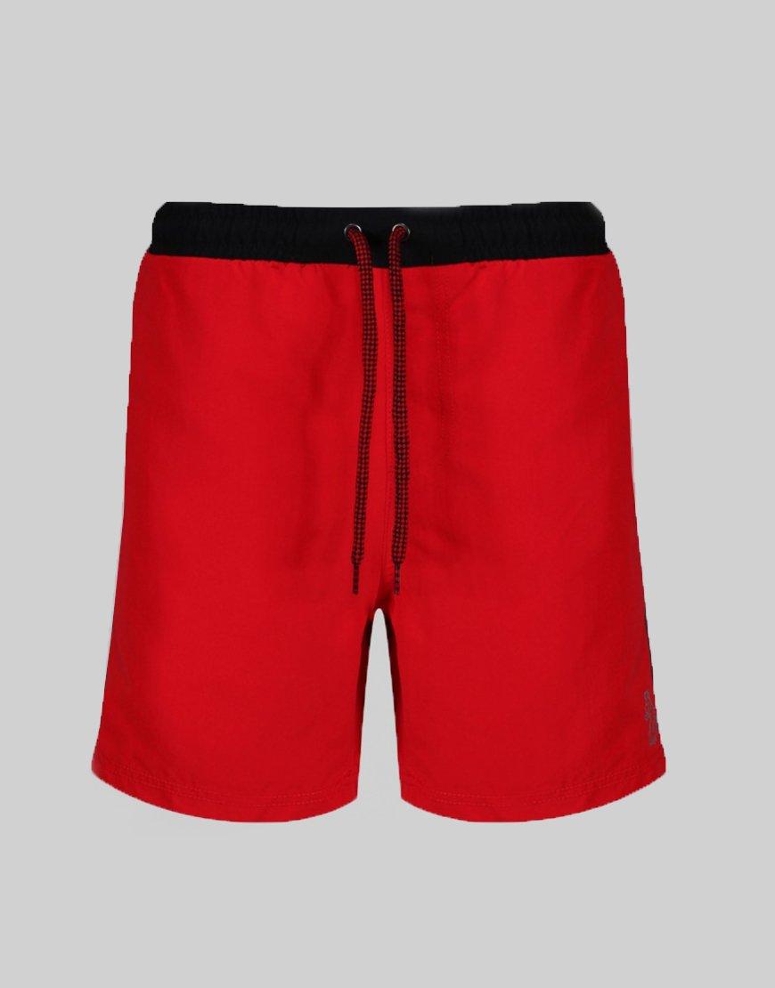 Luke 1977 Boxer Sport Swim Shorts Red