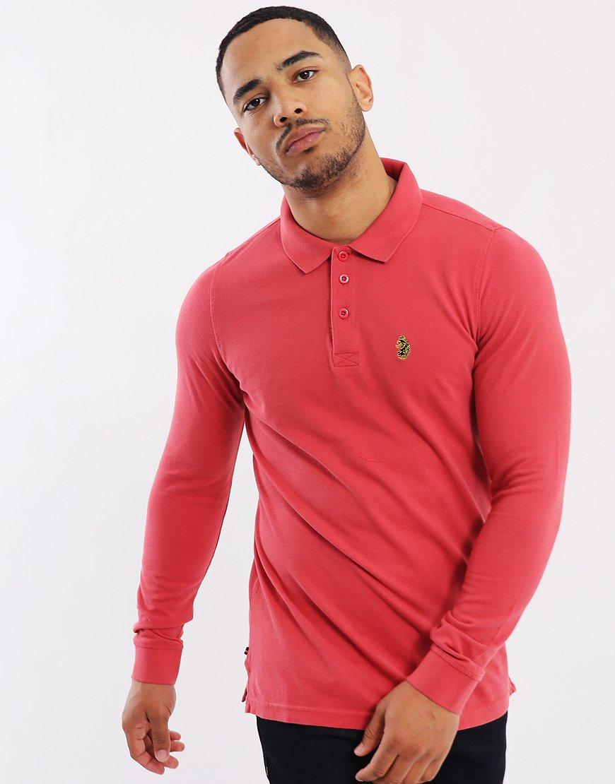 Luke 1977 Williams Long Sleeve Polo Shirt Berry