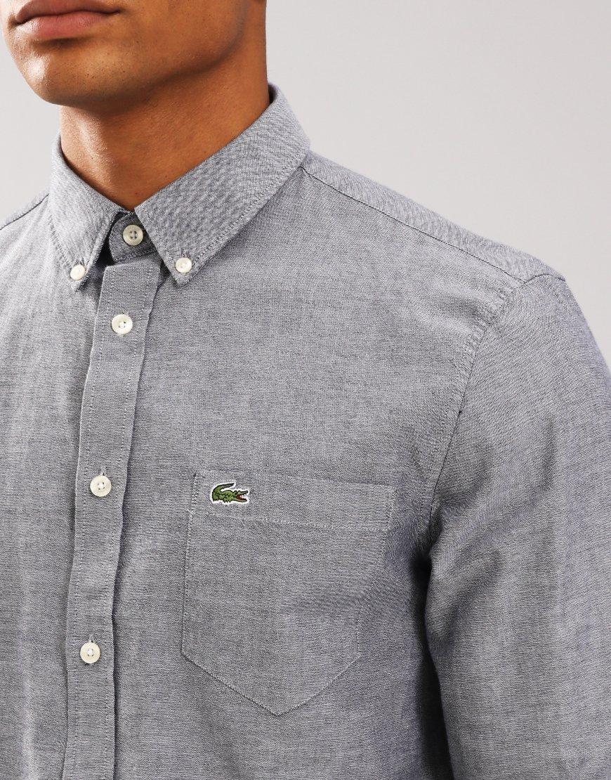 Lacoste Woven Oxford Shirt Navy