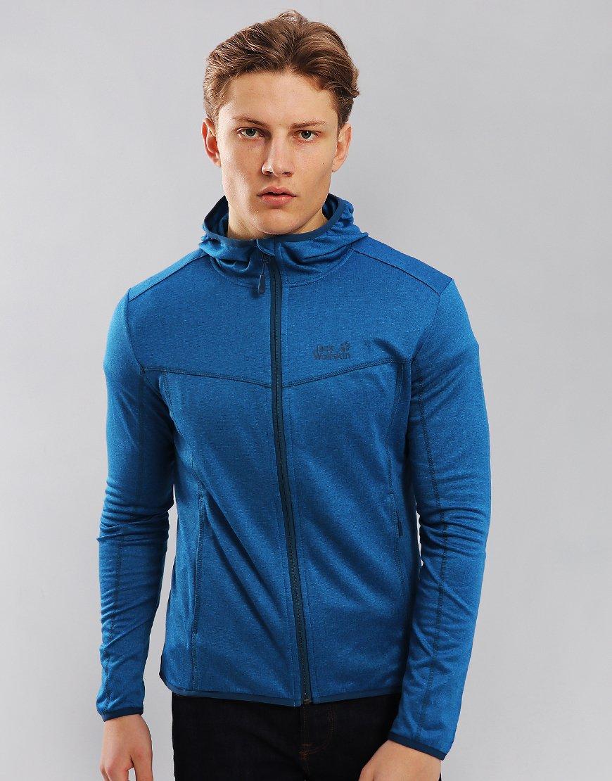 Jack Wolfskin Sutherland Hooded Fleece Sweat Electric Blue