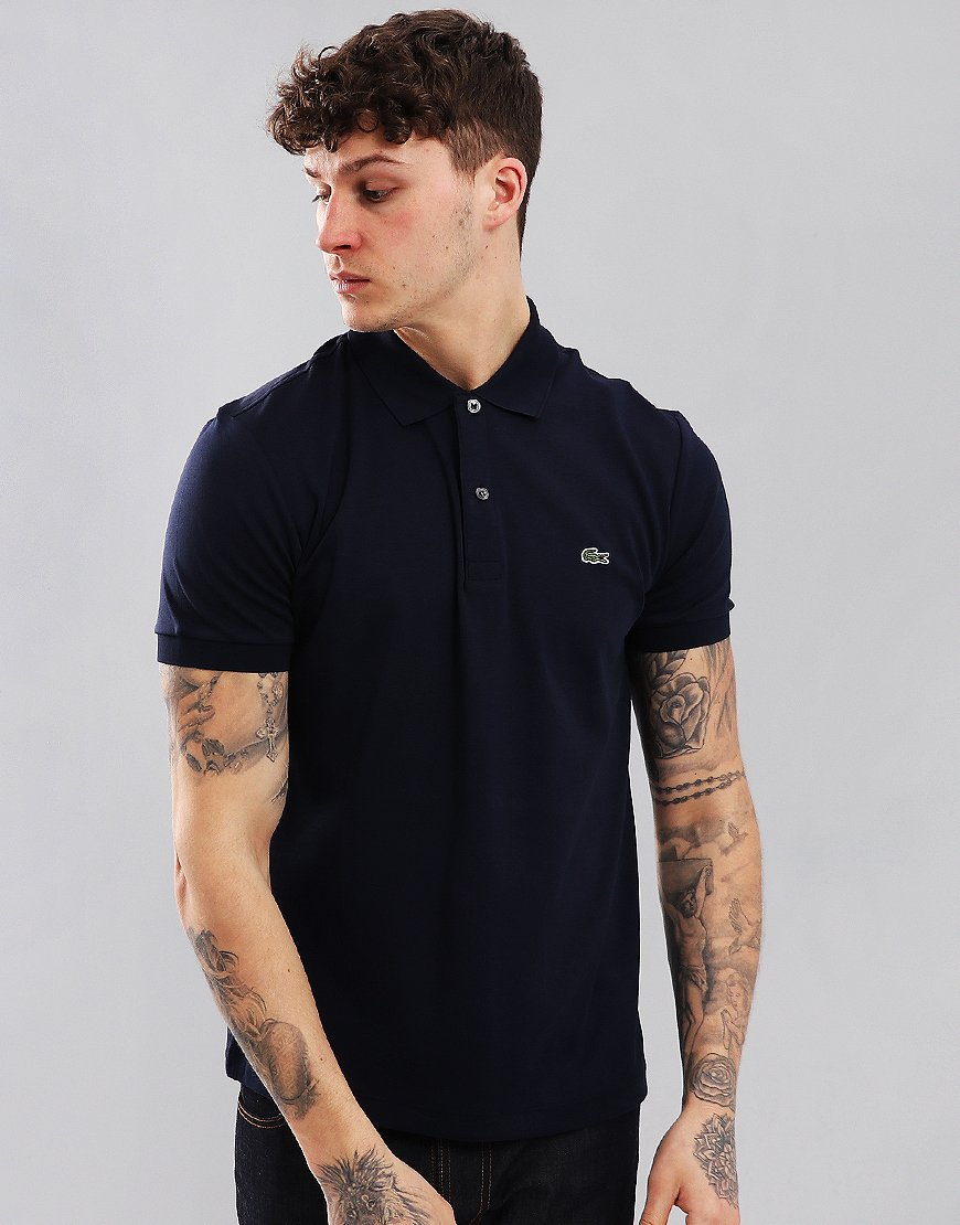Lacoste Jersey Polo Shirt Navy
