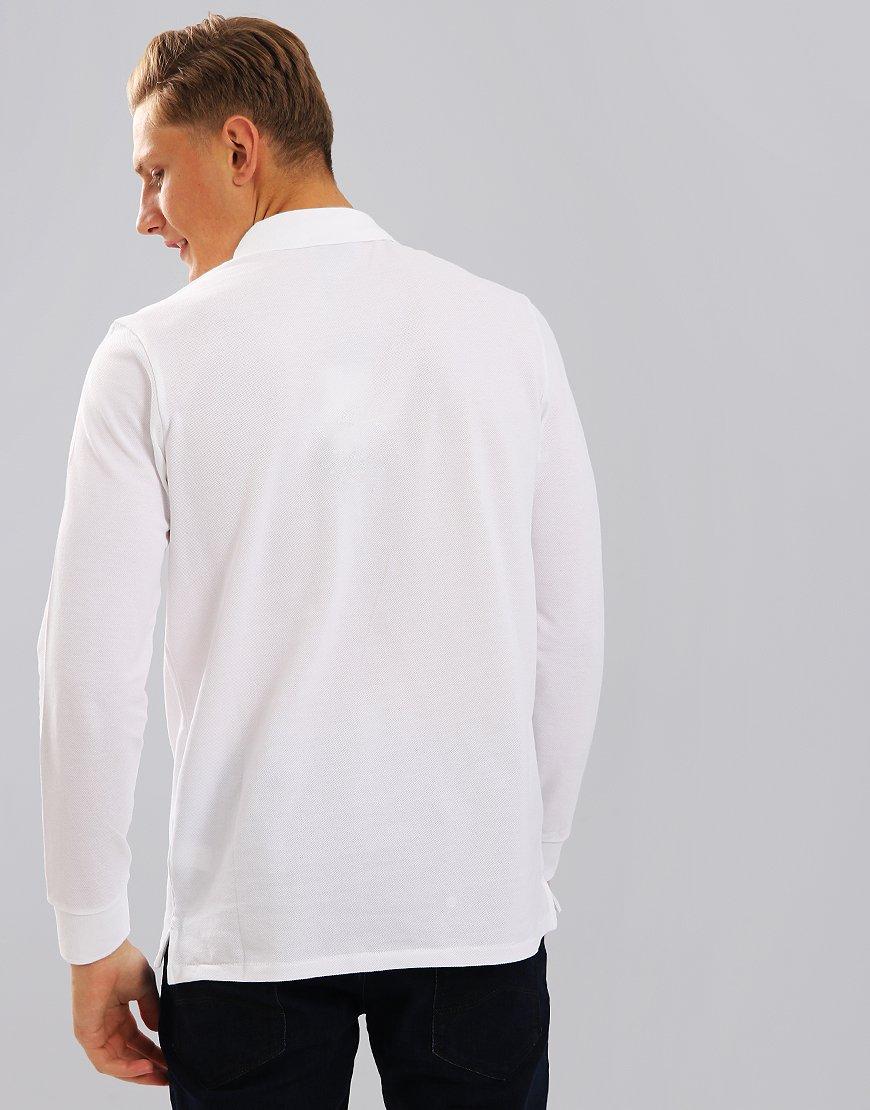 Paul Smith Long Sleeve Polo Shirt White