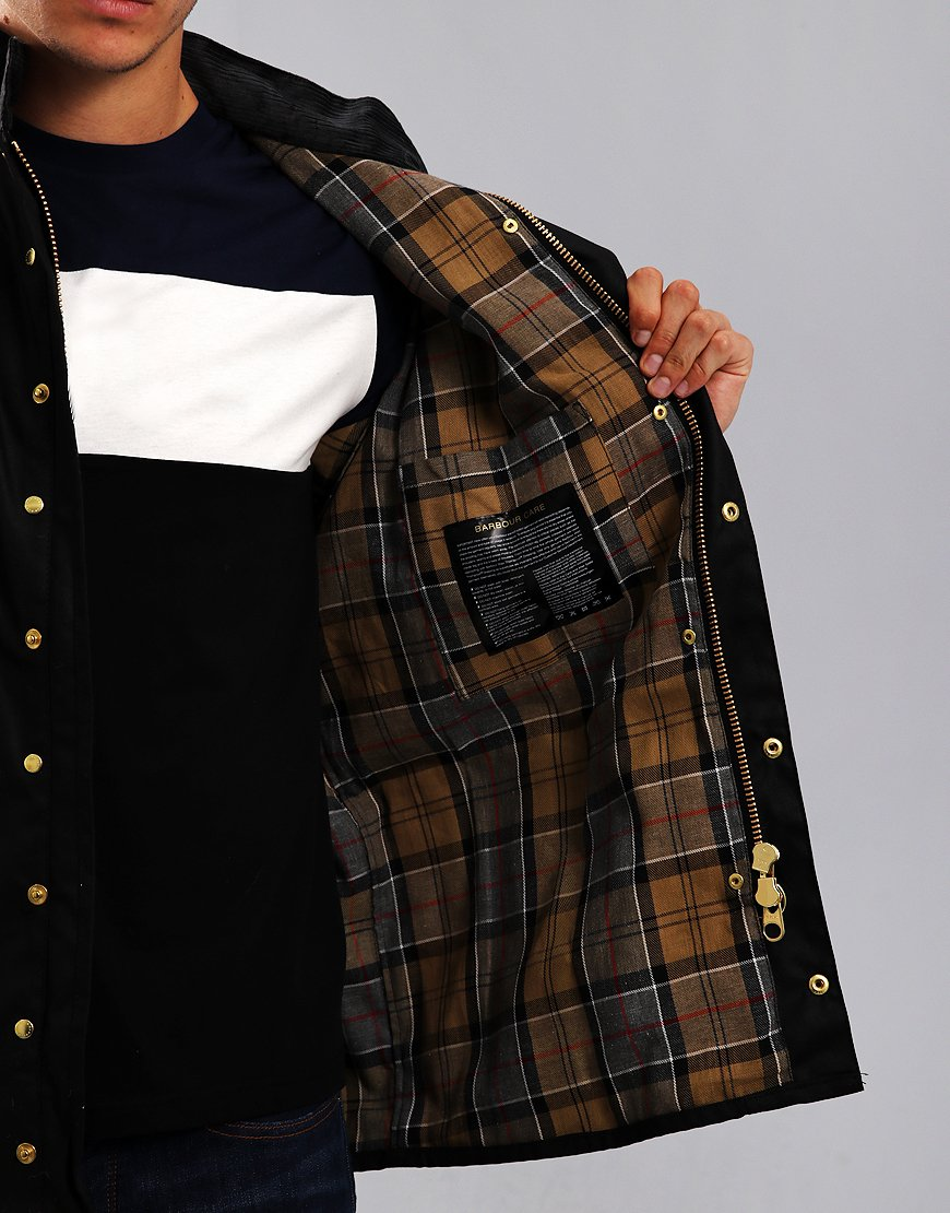 818ab80b26aef Barbour International Original Wax Jacket Black - Terraces Menswear