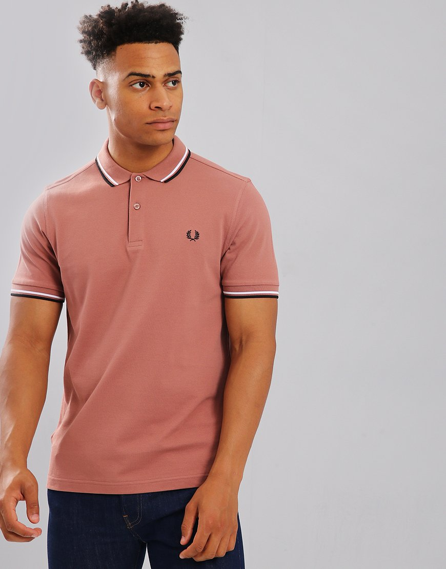 Fred Perry Twin Tipped Polo Shirt Burlwood