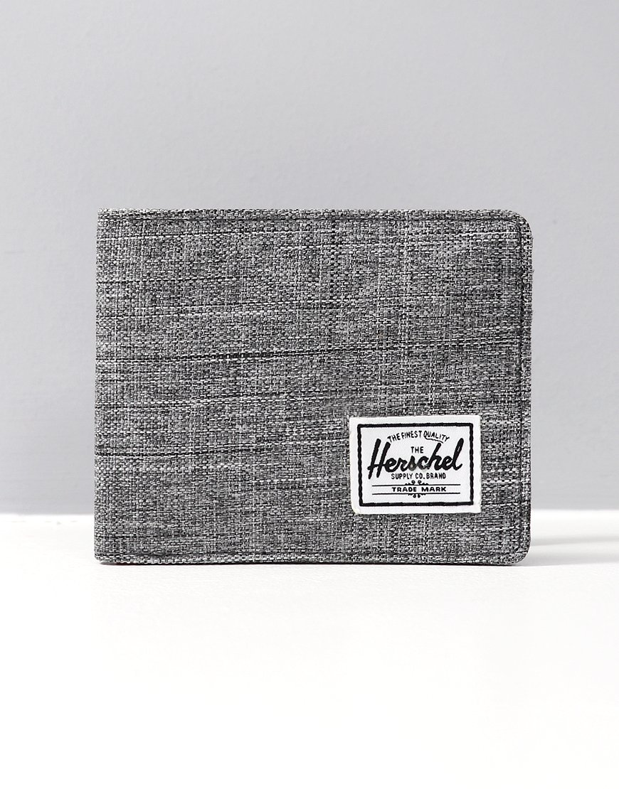 Herschel Roy Coin Wallet Raven Crosshatch