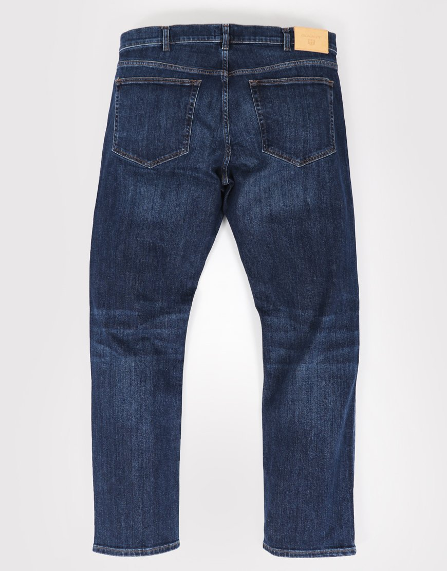 Gant Regular Fit Jeans Dark Blue Worn Wash