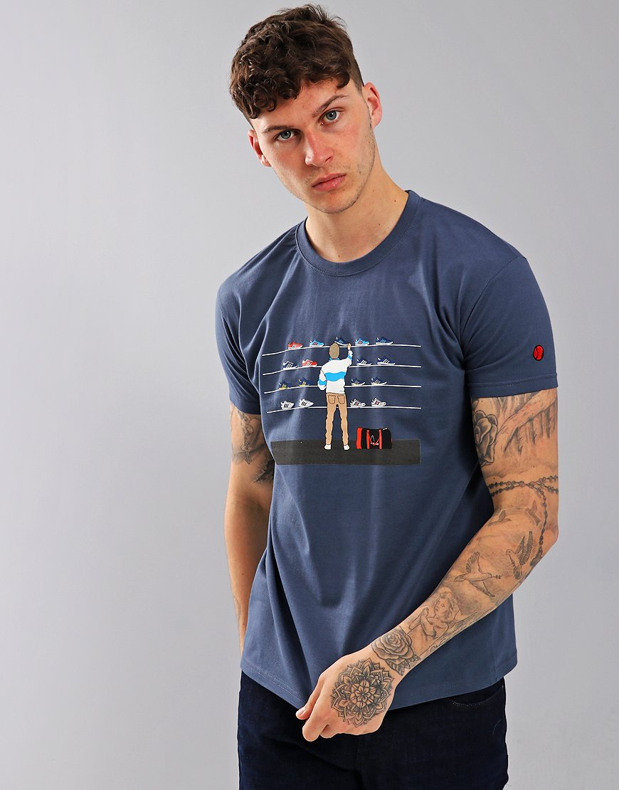 Eighties Casuals Trainer Shop T-Shirt Blue