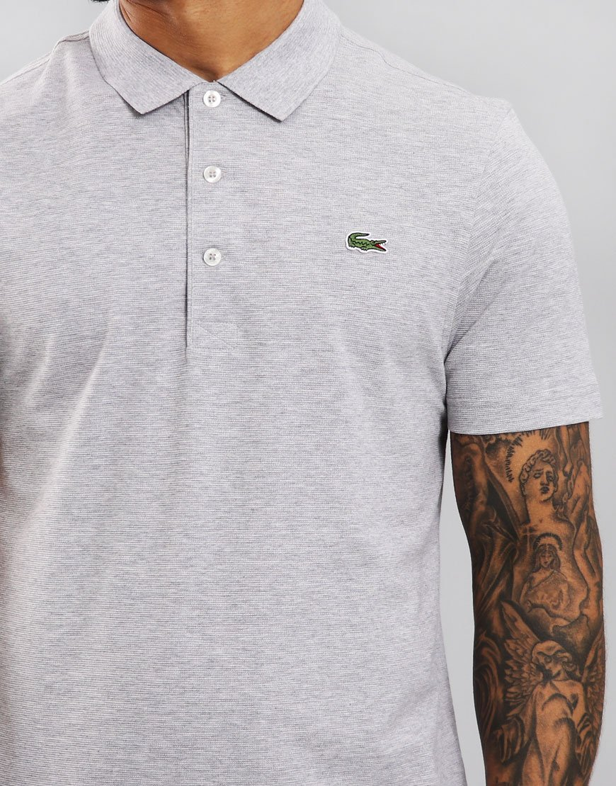 Lacoste SPORT Polo Shirt  Silver Chine