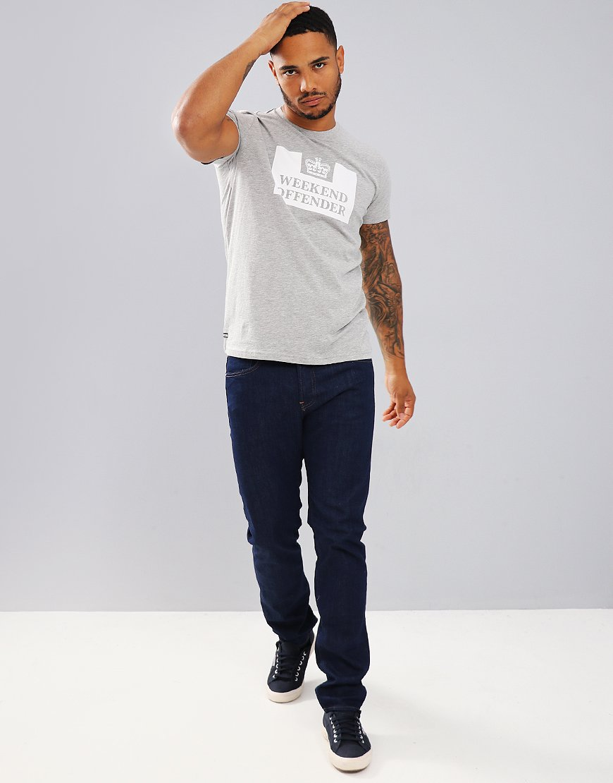 Weekend Offender Prison T-Shirt  Grey