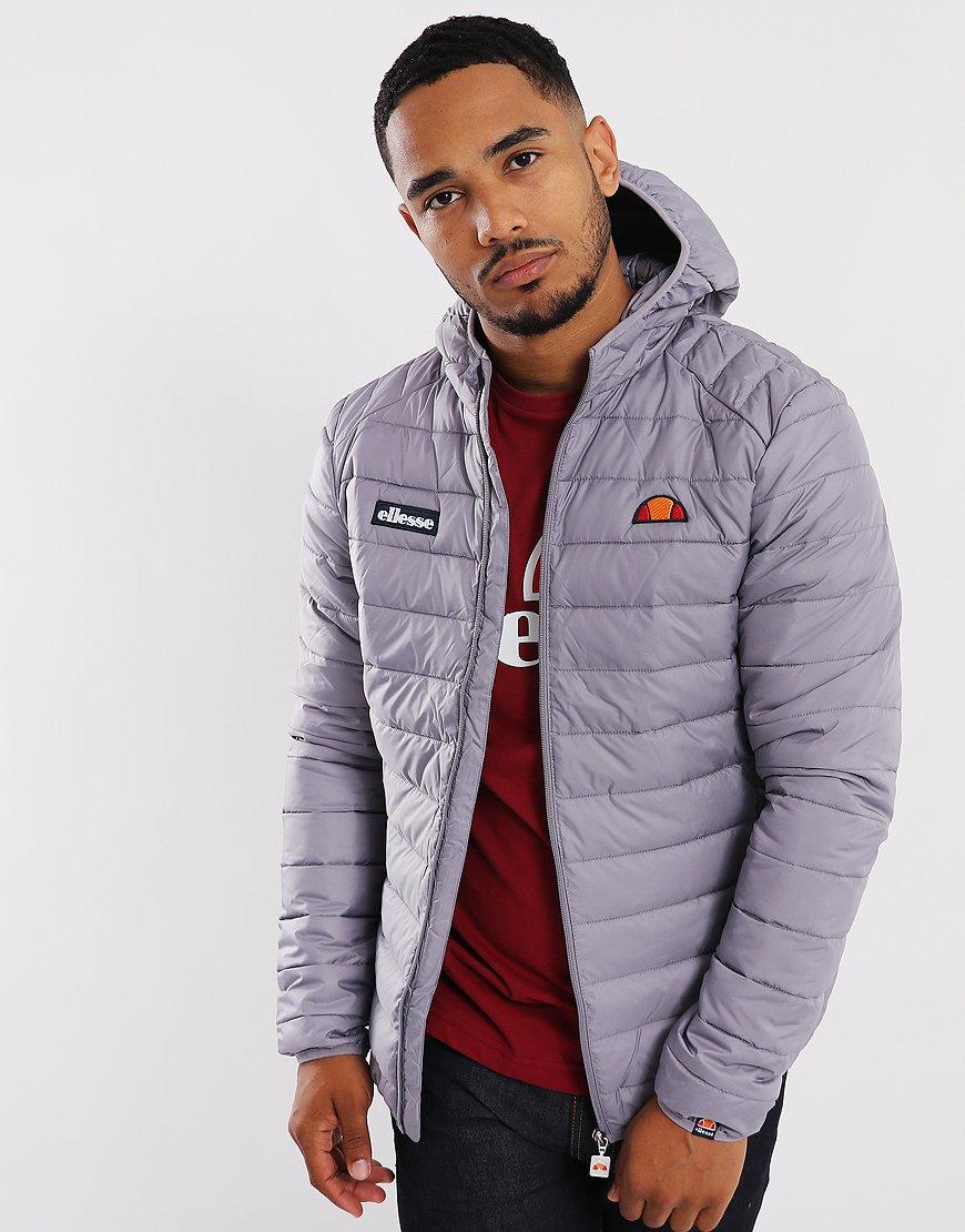Ellesse Lombardy Puffer Jacket Minimal Grey
