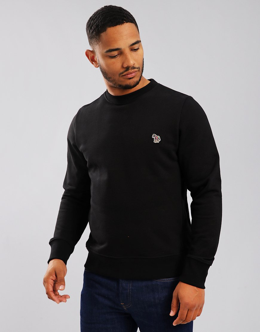Paul Smith Zebra Logo Long Sleeved Sweatshirt Black