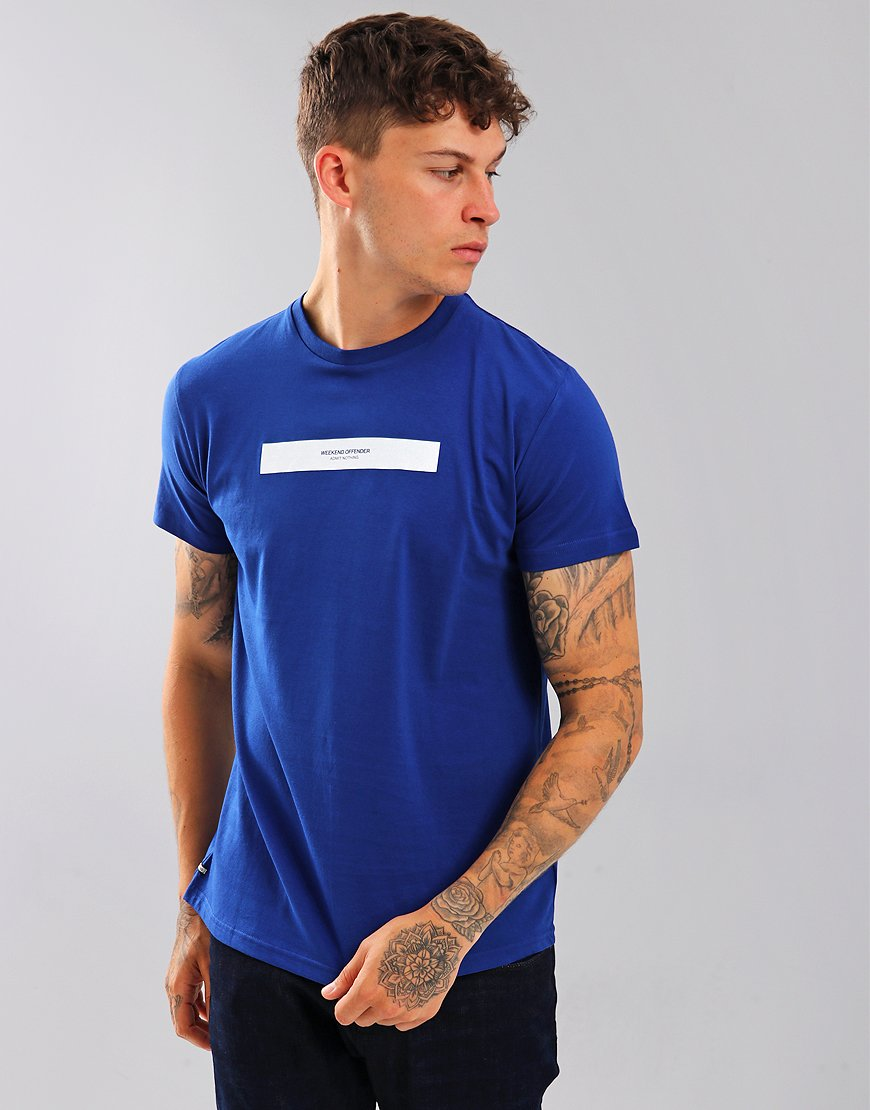 Weekend Offender Box Capsule T-Shirt Electric Blue