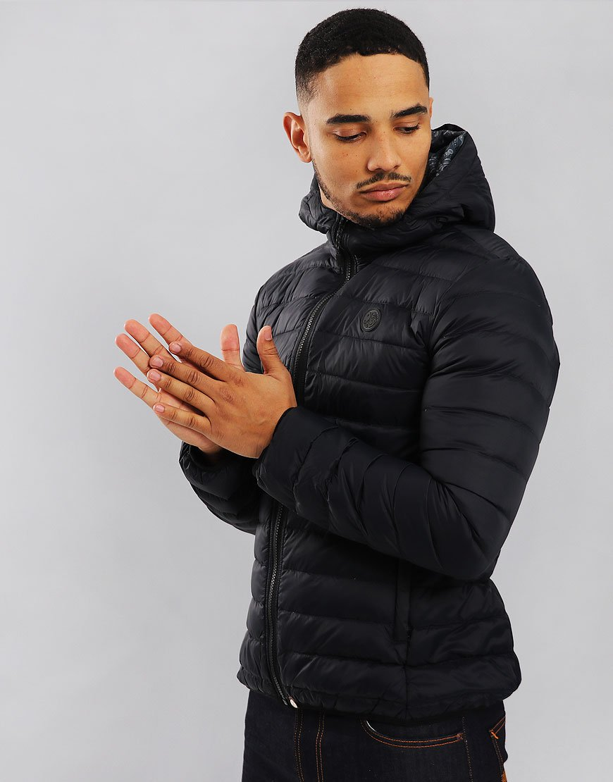 Pretty Green Barker Lightweight Down Jacket Black