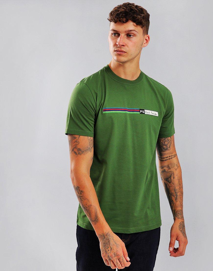 Paul Smith Cycle Stripe Logo T-Shirt Light Green
