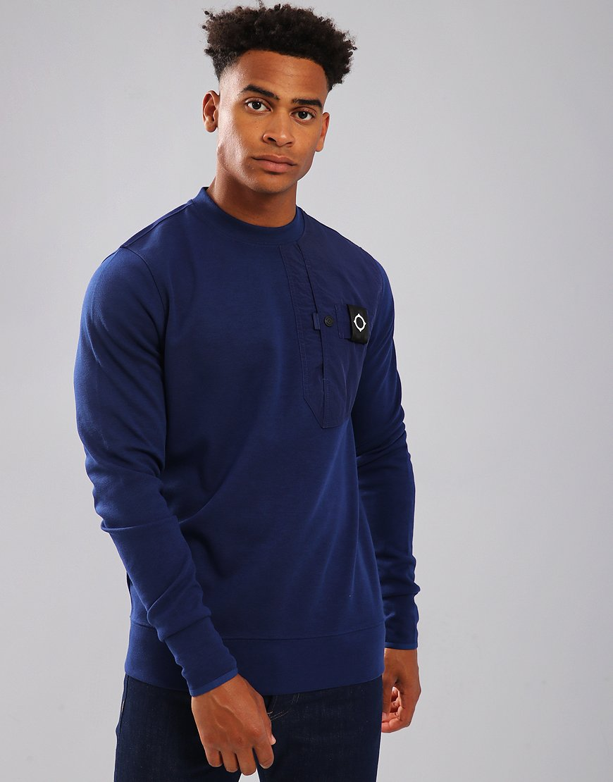 MA.Strum Pocket Sweat Indigo