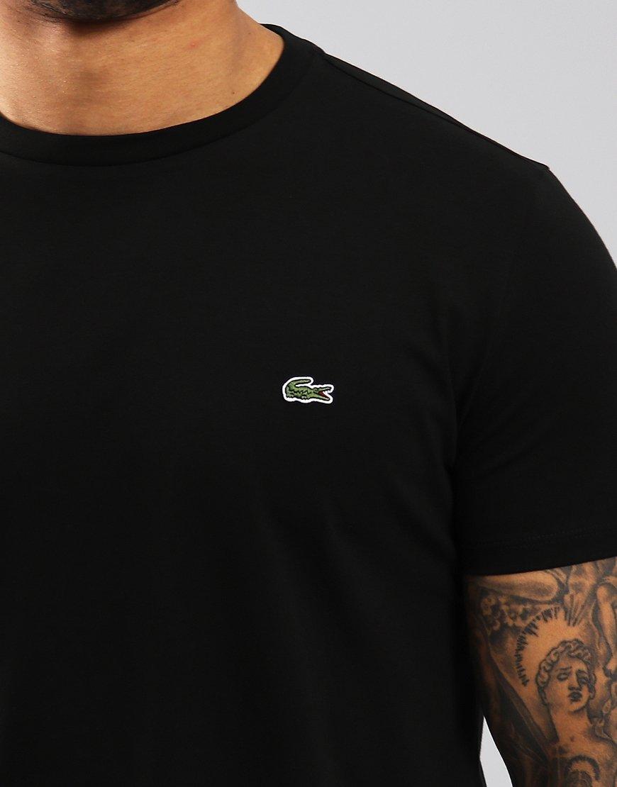 0b37a5d4 Lacoste Pima Cotton Logo T-Shirt Black