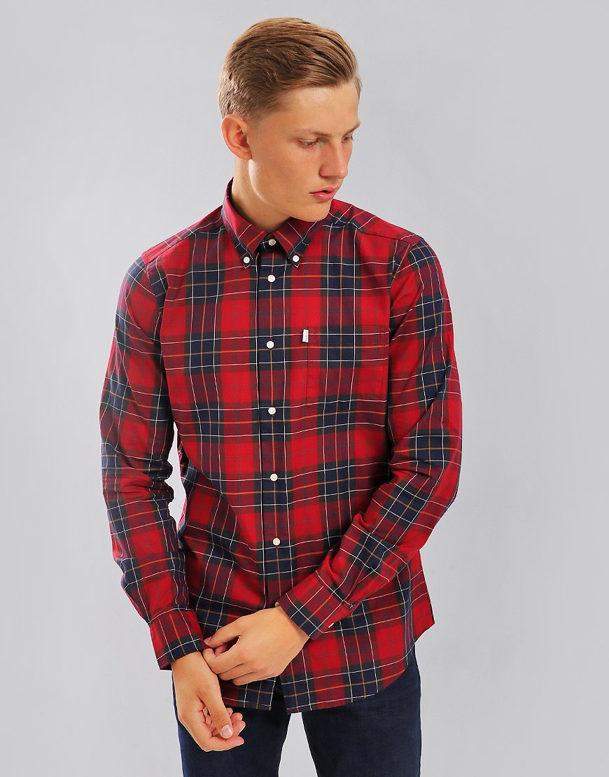 Barbour Wetheram Check Shirt Red