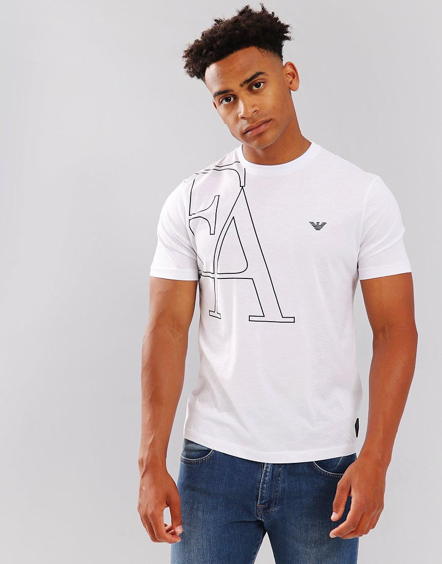 Emporio Armani Jersey Large Logo T-Shirt White