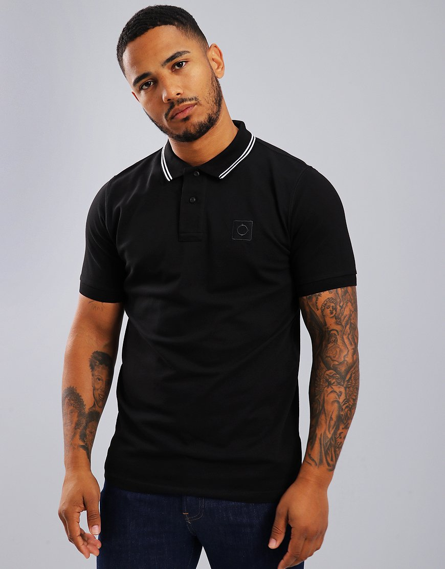 MA.Strum Tipped Pique Polo Shirt Black