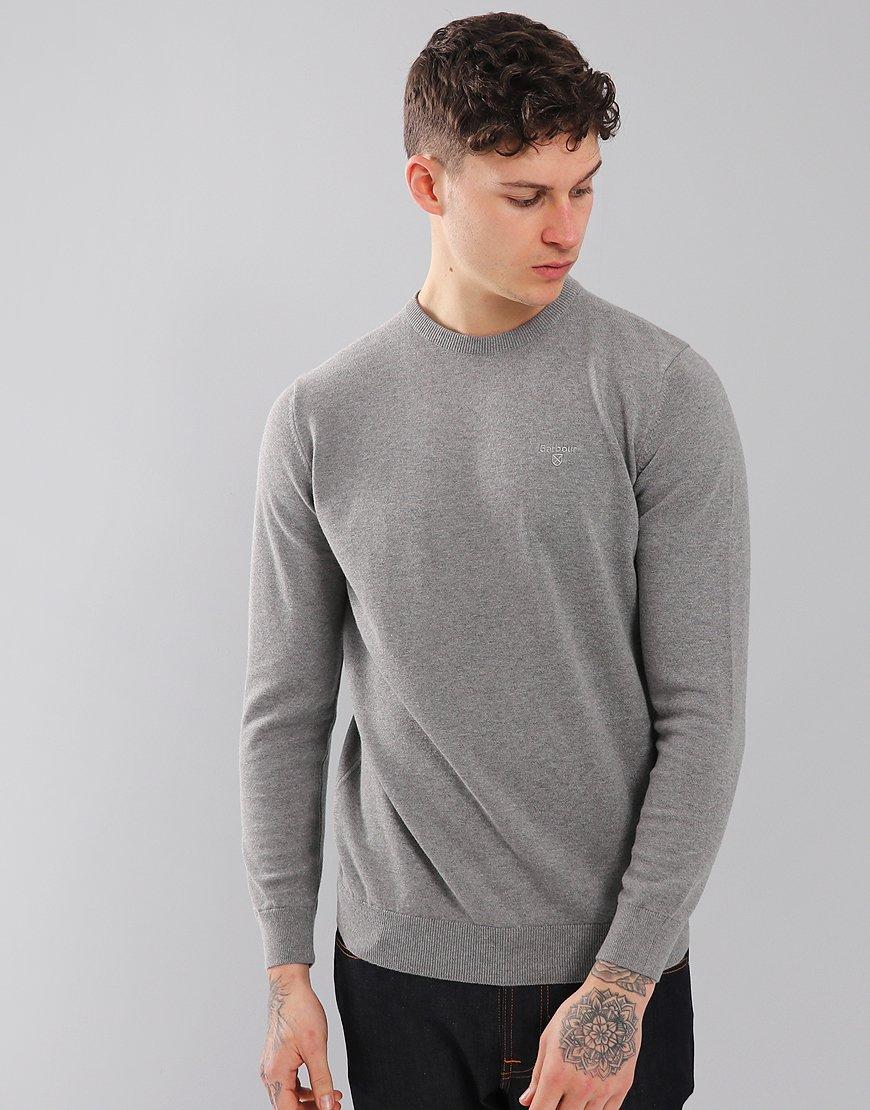 Barbour Pima Cotton Crew Neck Knit Grey