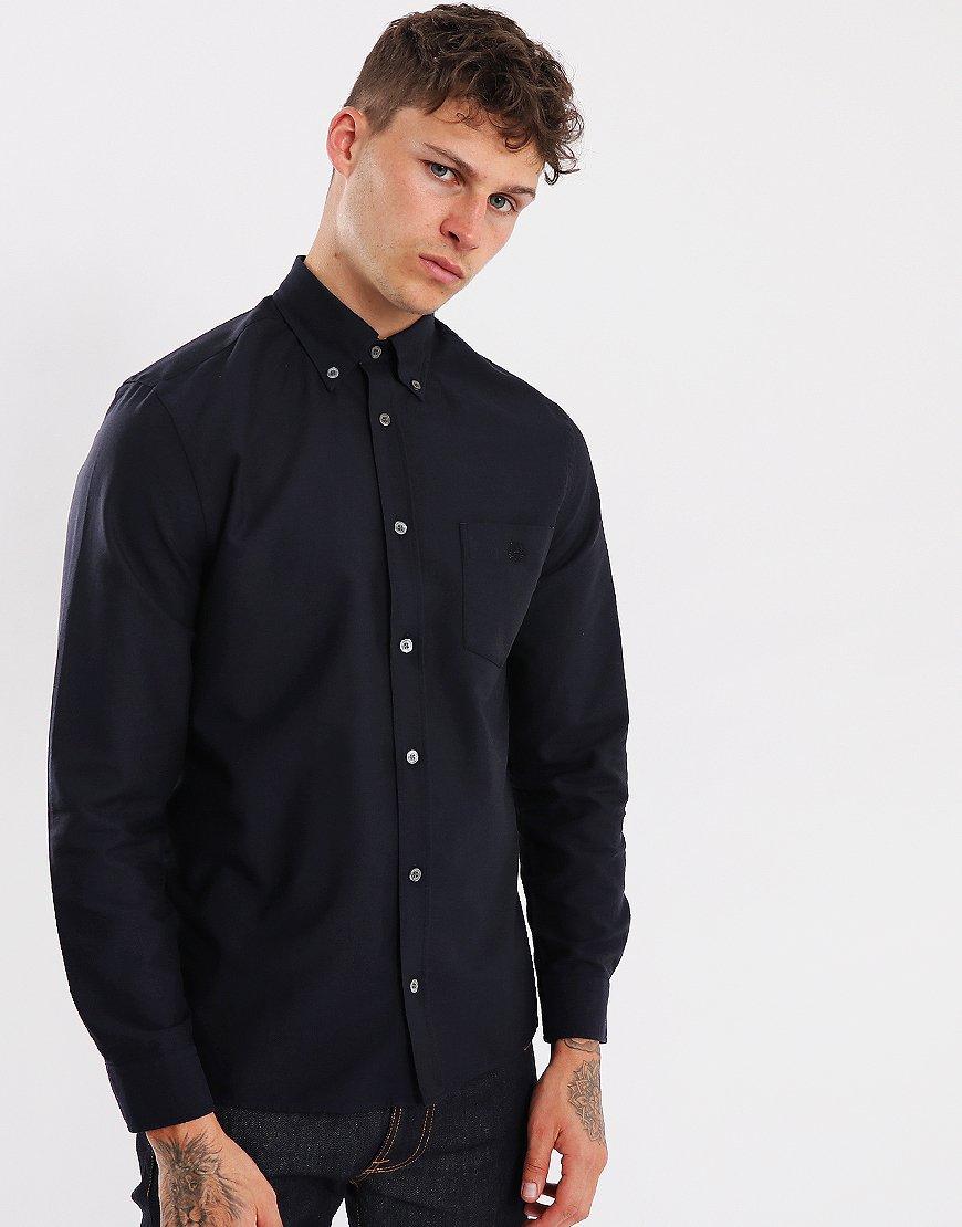 Aquascutum Bevan Long Sleeved Shirt Navy