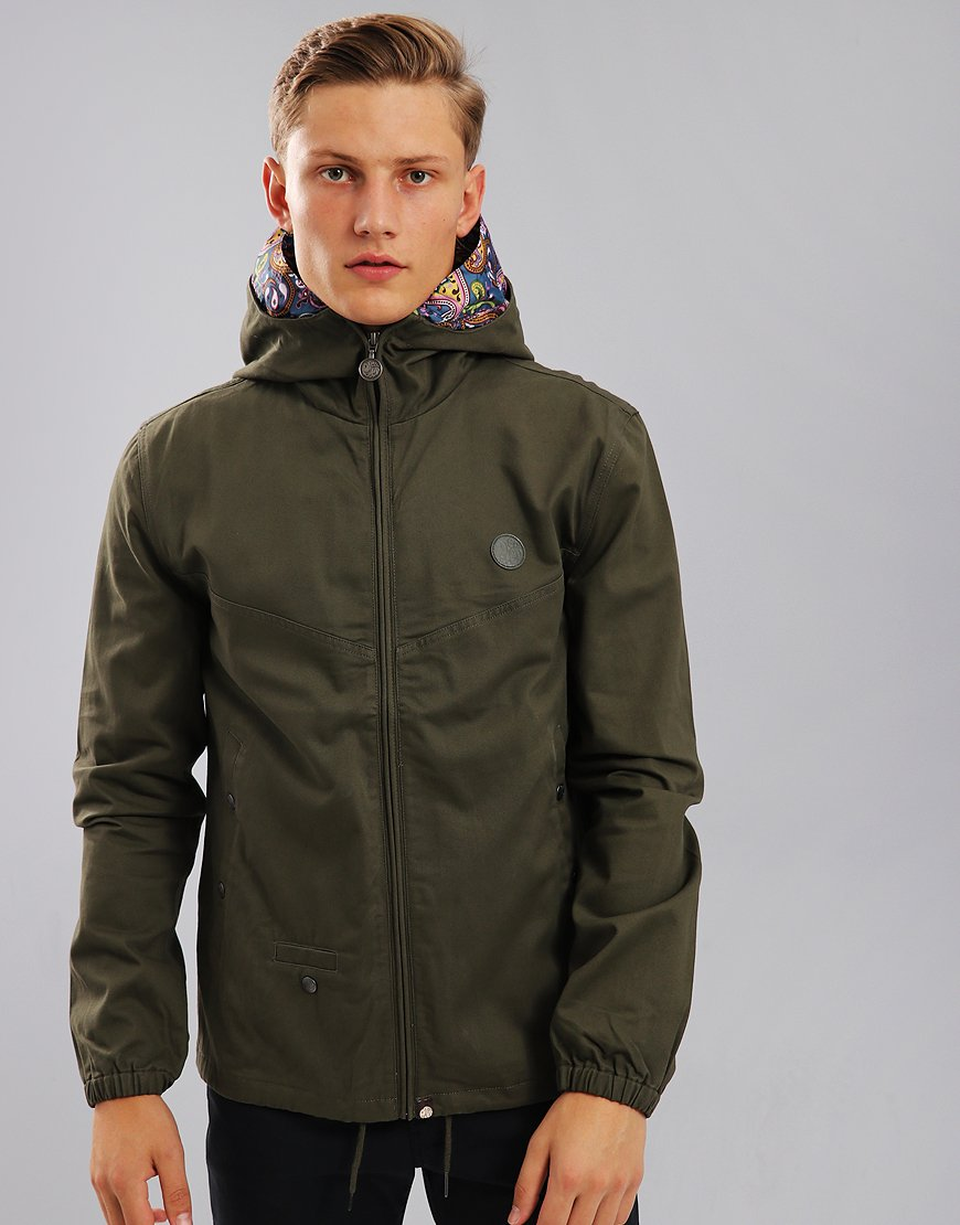 Pretty Green Beckford Hooded Jacket Khaki