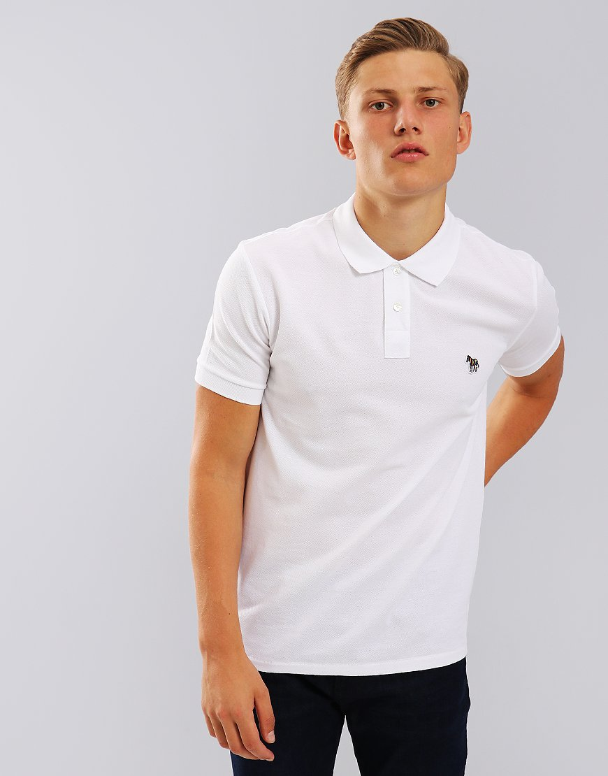 e0d758e2b Paul Smith Zebra Logo Polo Shirt White - Terraces Menswear