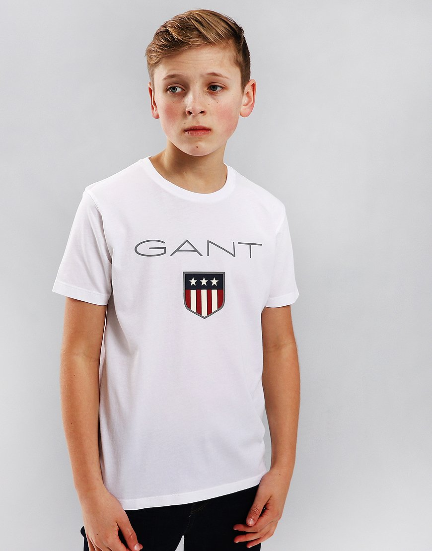 Gant Kids Shield T-Shirt White