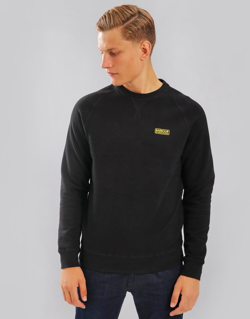 Barbour International Essential Crew Sweat Black