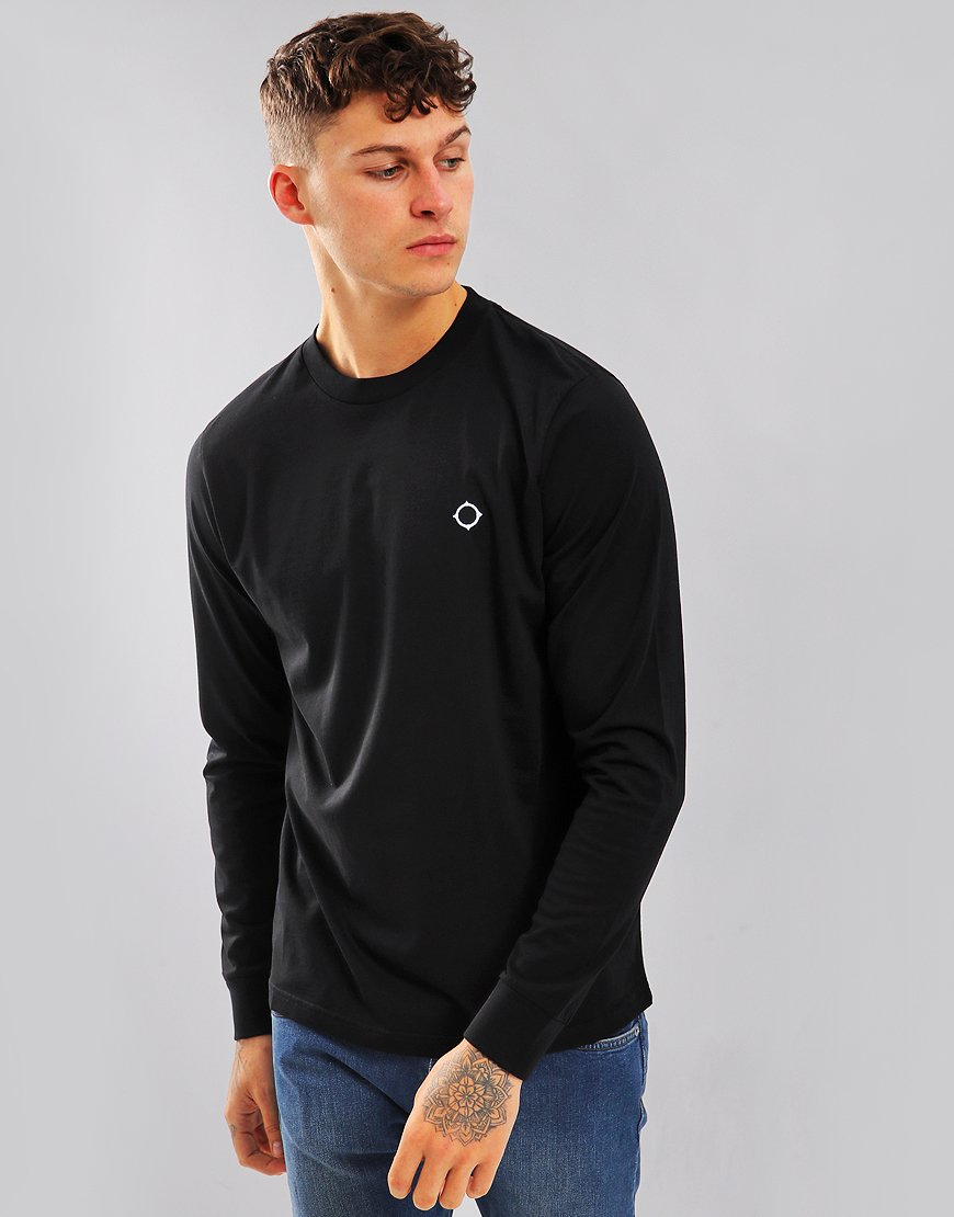 MA.Strum Long Sleeve Icon Tee Black